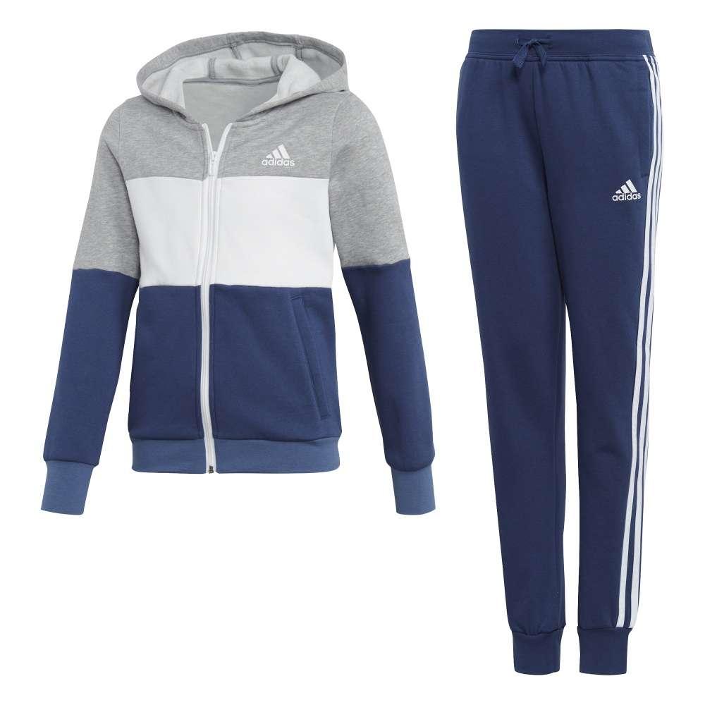 Adidas Hooded Kinder Trainingsanzug CF7306